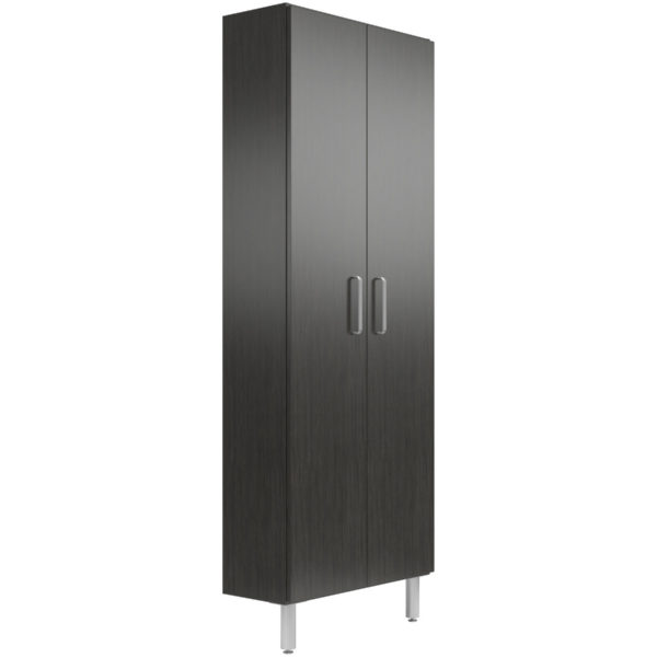 30 Wide Tall Cabinet With Shelves Doors Black Sand A Better