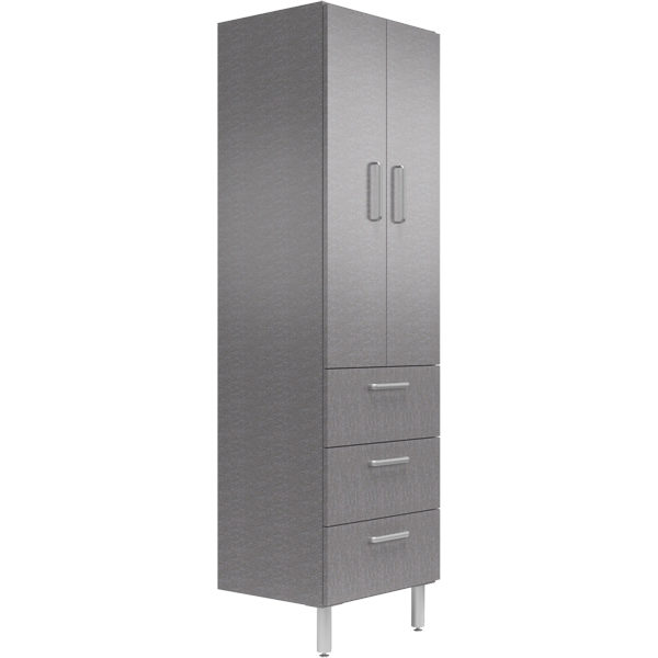 24 Wide Tall Cabinet With Shelves Doors 3 Drawers Galaxy