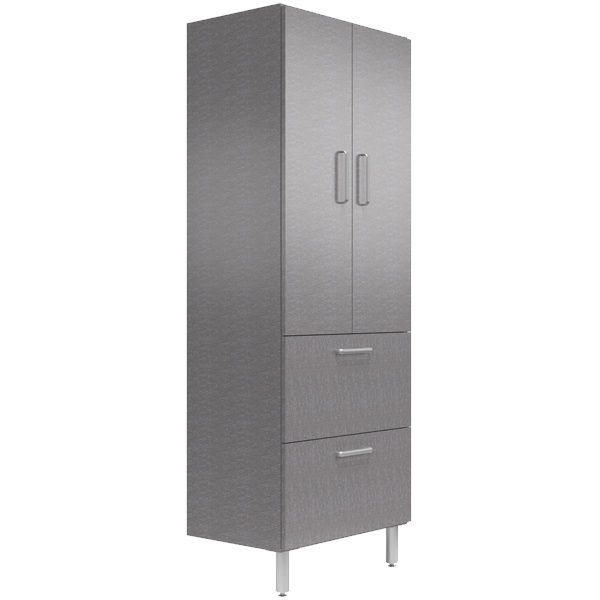 30 Wide Tall Cabinet With Shelves Doors 2 Drawers Graphite A Better Storage Solution