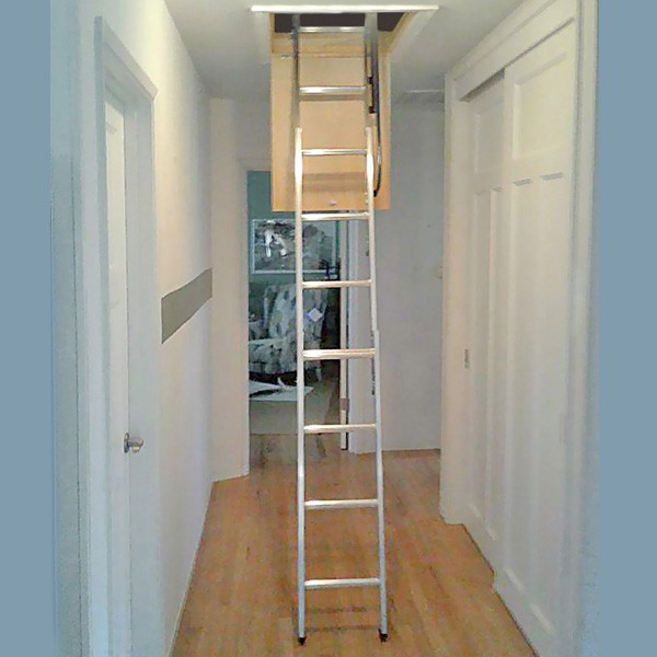 Compact Aluminum Attic Ladder 250 Lb 18 X24 30 X30 Opening